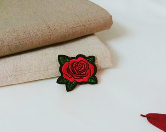 tiny rose patch-iron on patch-embroidered patch-patch for jacket-flower -cute -gorgeous-DIY