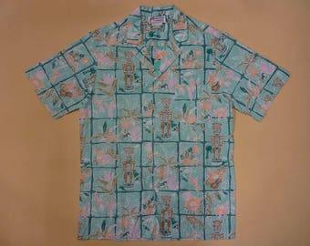 Vintage Malihini Aloha Shirt/Hawaiian shirt/Rockabilly/New Old Stock