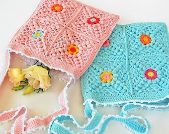 CROCHET PATTERN: Boho Bag/Granny Square Bag/Crochet Shoulder Bag