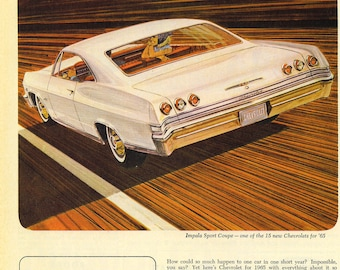 1965 Chevrolet Impala Ad | Poster | 24x36 inches