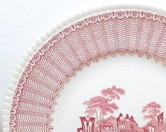 Vintage Transferware Plates 6 Dinner Plates and 5 Dessert Plates