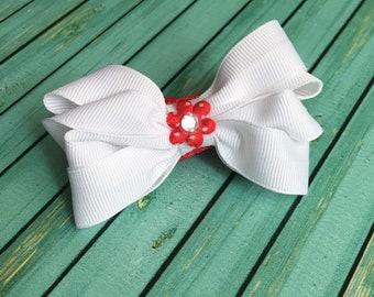 Hair Bows ~ Headbands ~ Boutique Bows ~ Girls Headbands ~ Baby Hair Bow Headbands ~ Newborn Photo Props ~ Baby Shower Gifts ~ Red Headbands