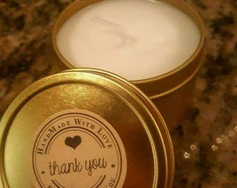 Gardenia scented soy candle handcrafted