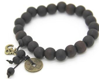 Buddhist bracelet sandal wood beads