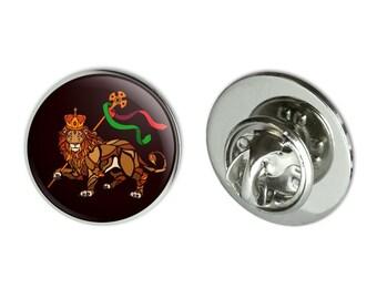 """Lion of judah bible  metal 0.75"""" lapel hat pin tie tack pinback"""