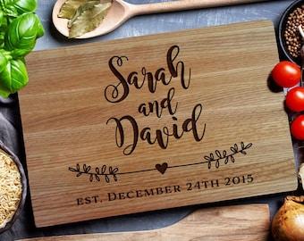Personalized Cutting Board, Custom cutting  Board, wedding Monogram , Housewarming Gift, Chopping Board, Cheese board (129 )