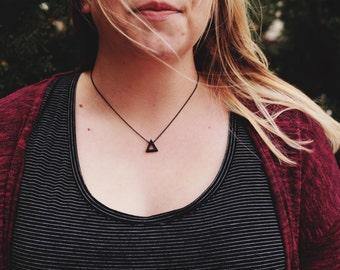 Black Triangle Necklace