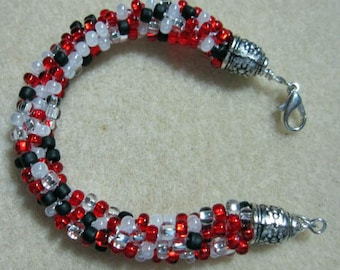 Kuhimino Spiral Rope Beaded Bracelet -Bright Idea