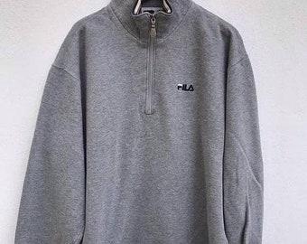 20% Off Fila Sweatshirt Vintage Fila Sweater Sweatshirt Spell Out Fila Big Logo Fila Shirt Swag Hip Hop Swag Surfing sz L on tag