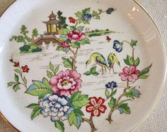 Vintage  Staffordshire England Pagoda Design Plate