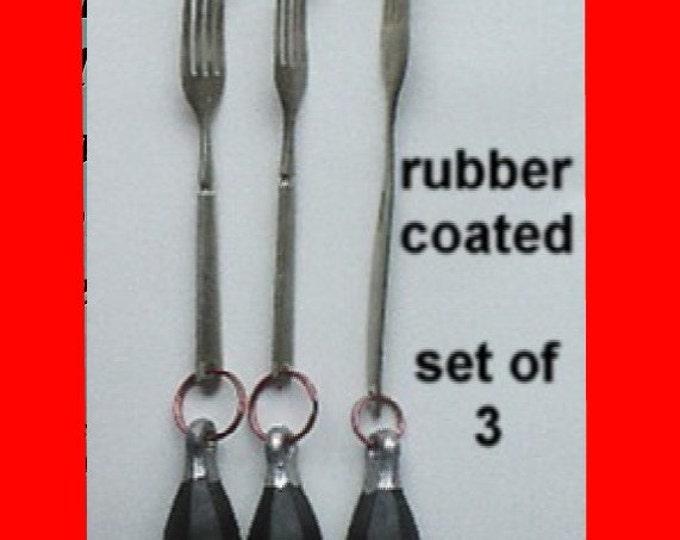 Set of three weights for knitting socks on circular sockknitting machines
