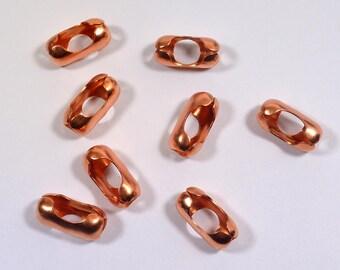 6.3mm Ball Chain Connectors - 100% Copper
