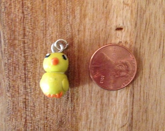 Easter chick clay charm