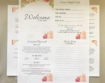 New Member mini Welcome Kit, printable