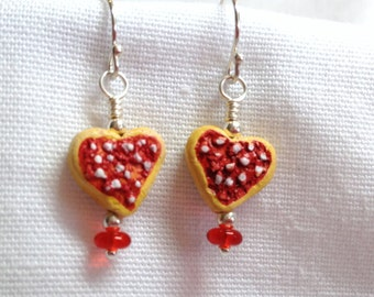 Frosted Heart Sugar Cookie Earrings