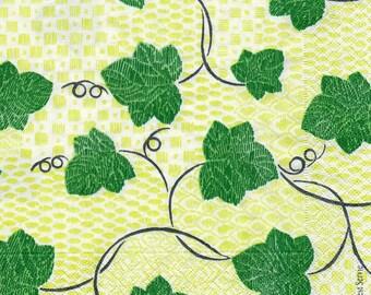 654 1 towel paper Ivy leaves