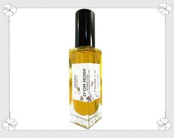 100 % Organic D'OR ROSE  Facial Oil (Golden Rose) Nourishing Face Moisturizer 1 fl oz Glass Bottle w/ Pump