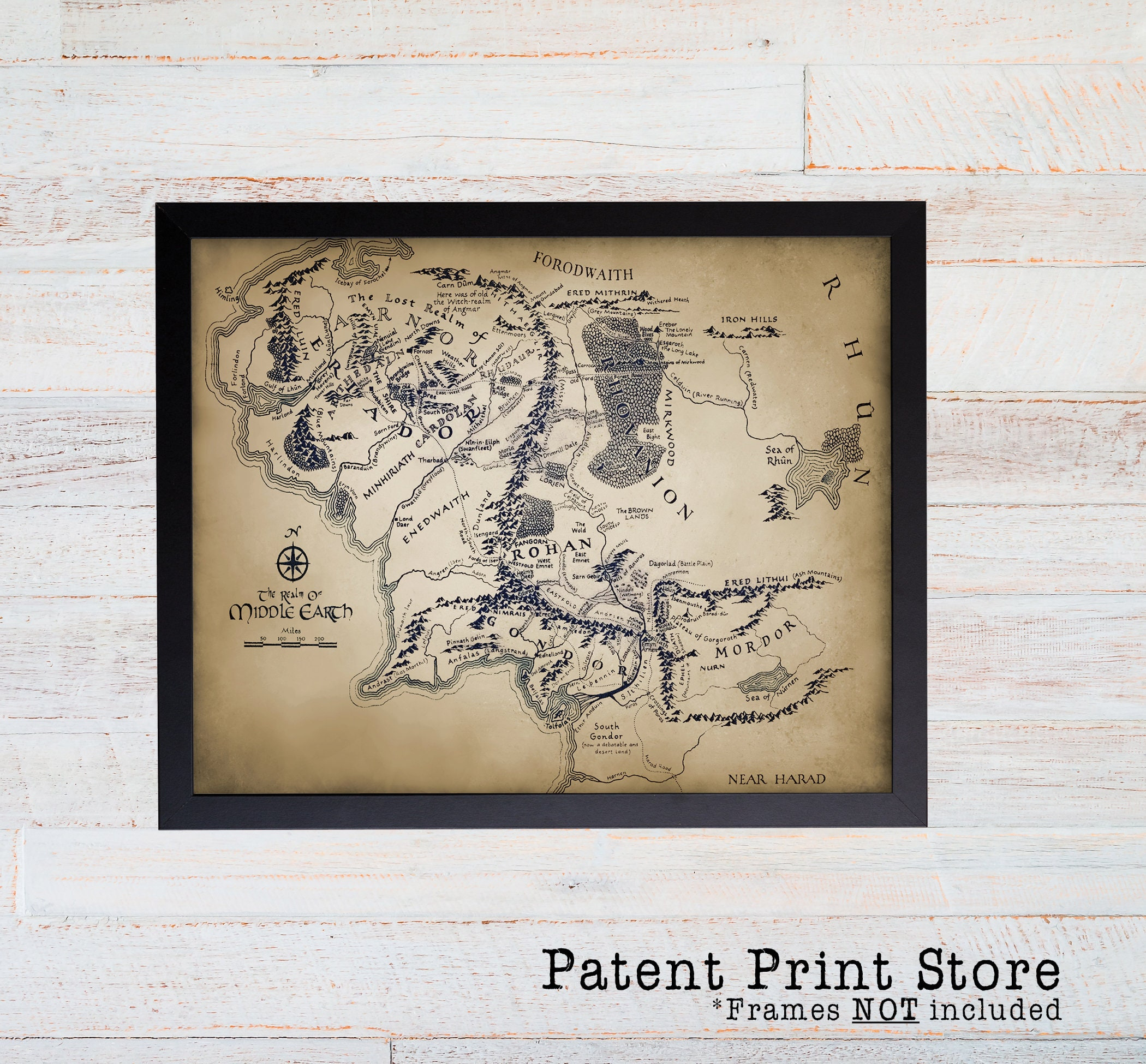 lord of the rings middle earth map lord of the rings fantasy map lord of the rings map wall art poster middle earth poster hobbit art
