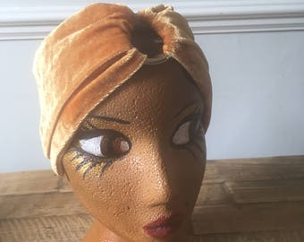 Vintage style turban headband retro glamour Vogue pattern