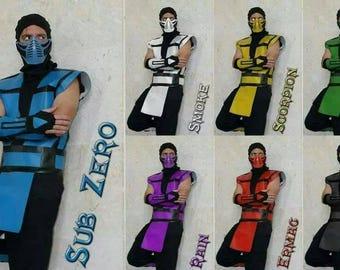 Ultimate Mortal Kombat III Classic ninjas Costumes video game, Sub-zero Halloween costume, MK assassin outfit