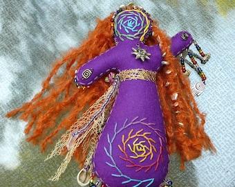 Soleil, poupée d'Art de la guérison Chakra poupée, poupée de l'esprit, la médecine de poupée