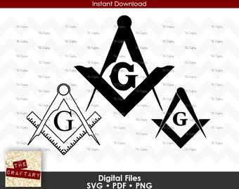 Mason Masonic Compass Freemason SVG File
