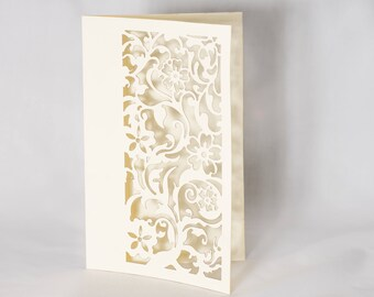 Laser Cut Card for Greeting or Invitation