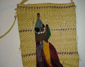 Sweet Grass Hand Woven Vintage Tote Bag