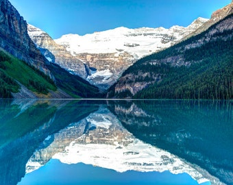 Lake Louise Photo, Banff Photography Reflections Jasper Alberta Rockies Mountains Landscape Wall Art Canada can2