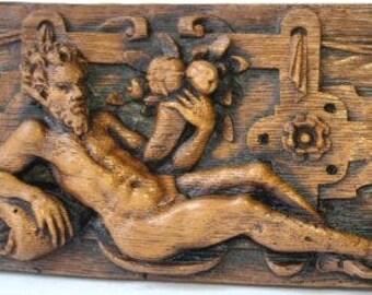 Religious Wall Plaque: Adam in the Garden of Eden
