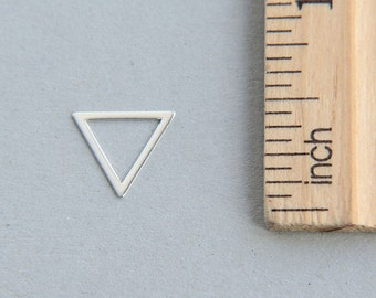 Triangle Charm, Silver Triangle Charm, 925 Sterling Silver Charm, Sterling Silver cut out triangle charm, Geometric Charm, 10mm ( 1 piece )