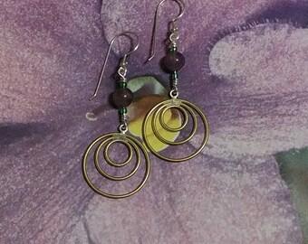 Mardi Gras inspired earrings