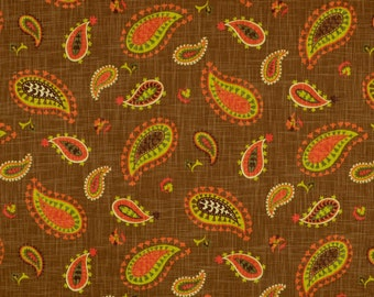 Desert Sky Cayenne Floral Paisley Waverly Fabric