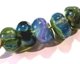 Lampwork Glass Borosilicate Beads RANDOM BLUES II Two Sisters Designs 022818C
