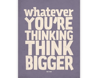 Think big poster, Dorm decor, Motivational quotes, Motivational art print, Wall art, Motivational print, Positive vibes, Quote wall art