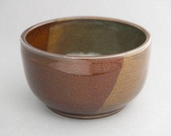 Large bowl - earth tones (brown, green, tan)