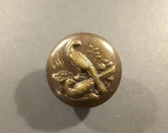 French vintage hunting button 1900.