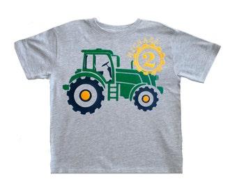 Tractor Birthday Shirt, Toddler Tractor boys birthday shirt, John Deer tractor shirt, Farm party theme,Tractor invites,Farm birthday shirt