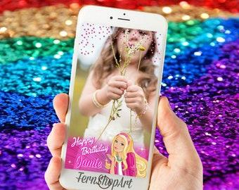 Barbie Snapchat GeoFilter, Barbie Custom Snapchat Filter, Barbie Geofilter,Barbie Snapchat Filter