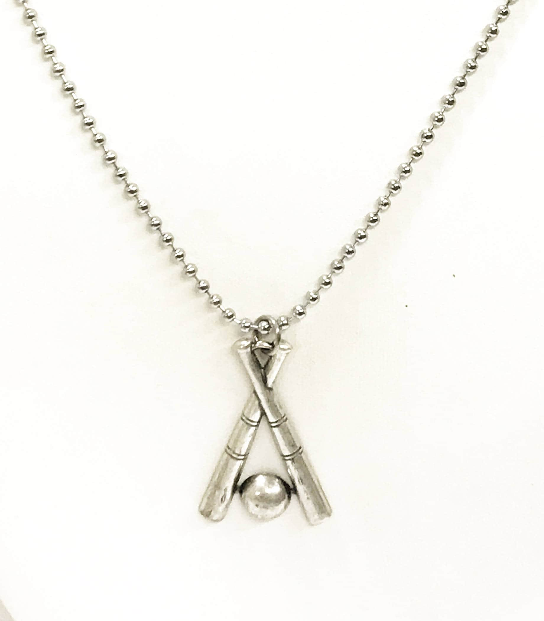 pendant baseball necklace cross fivetool bat myshoplah