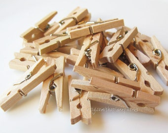 300 Darjeeling Tea Stained Miniature Clothes Pins  - Tiny  1 inch