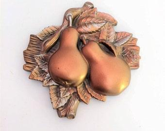 Vintage Chalkware, Golden Pears, Miller Studio