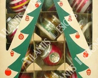 Shiny Brite 3 Ornaments 2 x 3 Fridge Magnet