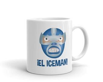 El Iceman Lucha Libre Mexican Wrestler Mug