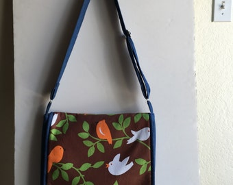 Michael Miller's Bird and Tree Overshoulder Bag