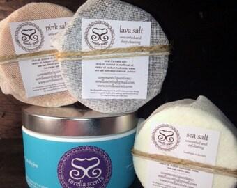 By The Sea - Sea Salt Bars, Restore Sea Salt Scrub Gift Set
