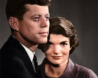 John & Jackie Kennedy around 1960