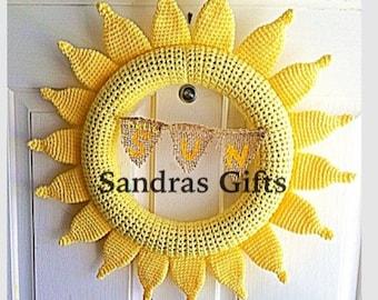 Crochet sun wreath