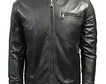 Black A2 Leather Jacket - WW2 US American Pilots Repro Coat - All Sizes