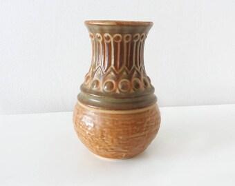 Vintage Jasba 1582 15 fat lava vase | West German pottery, Mid Century Modern